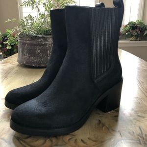 f77580b289f UGG Camden Exotic Stacked Heel Boots Calf Hair NEW NWT